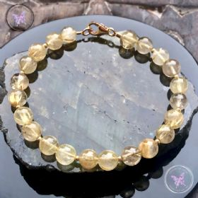 Golden Rutilated Quartz Gold Bracelet